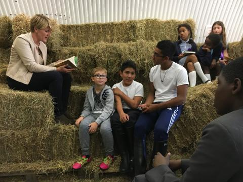 Clare Balding comes to EHC to read a bedtime 'tail'